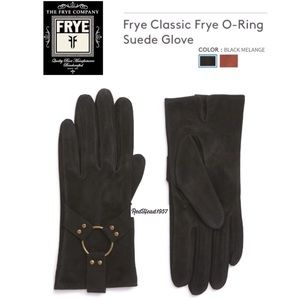 🔥Frye Harness Black Classic Suede Gloves ♥️🎁 🧤